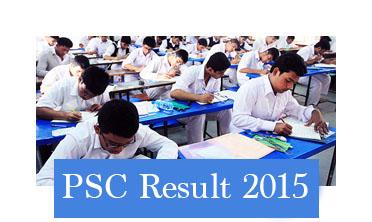 PSC Result 2015 on 31th December